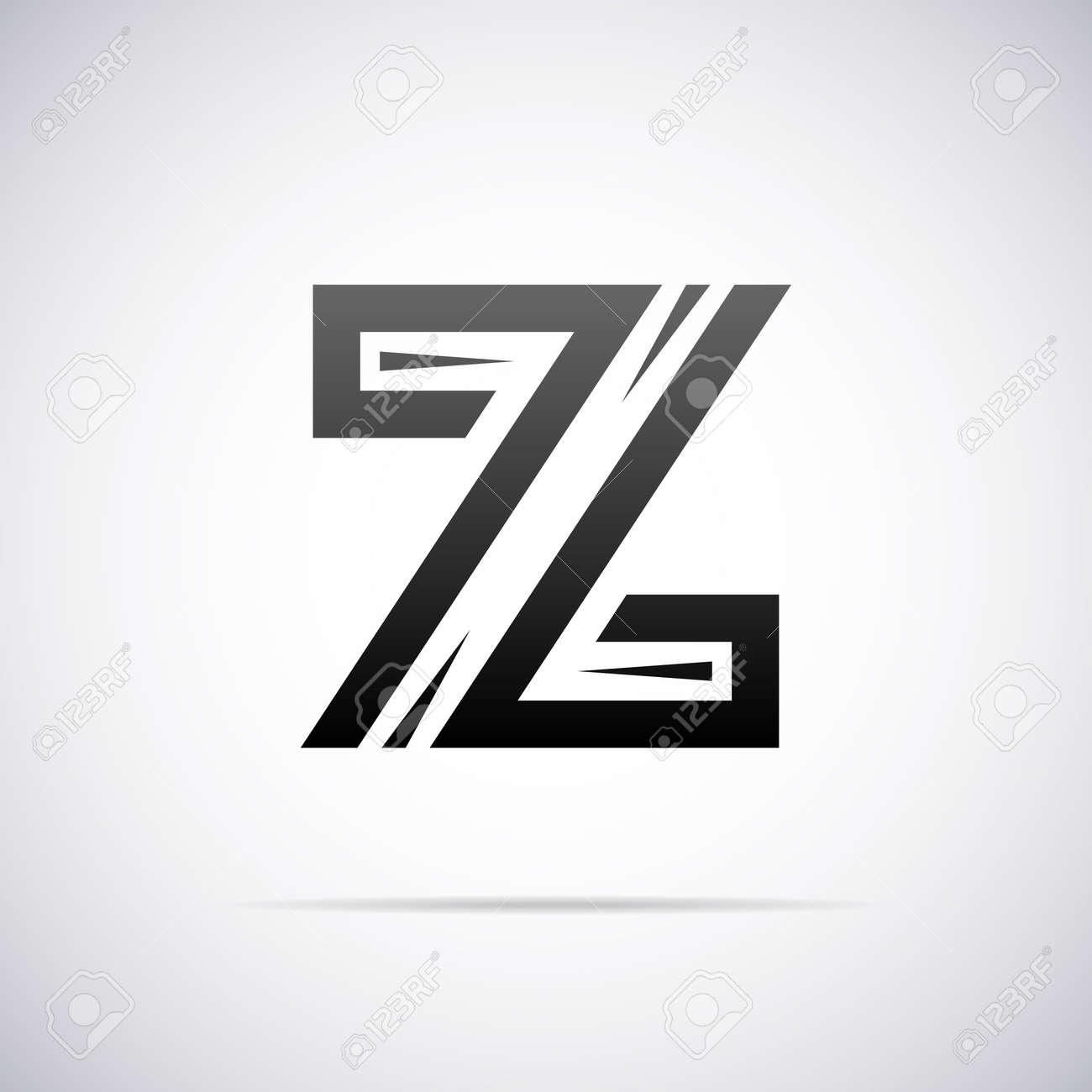 logo for letter z design template vector illustration royalty free