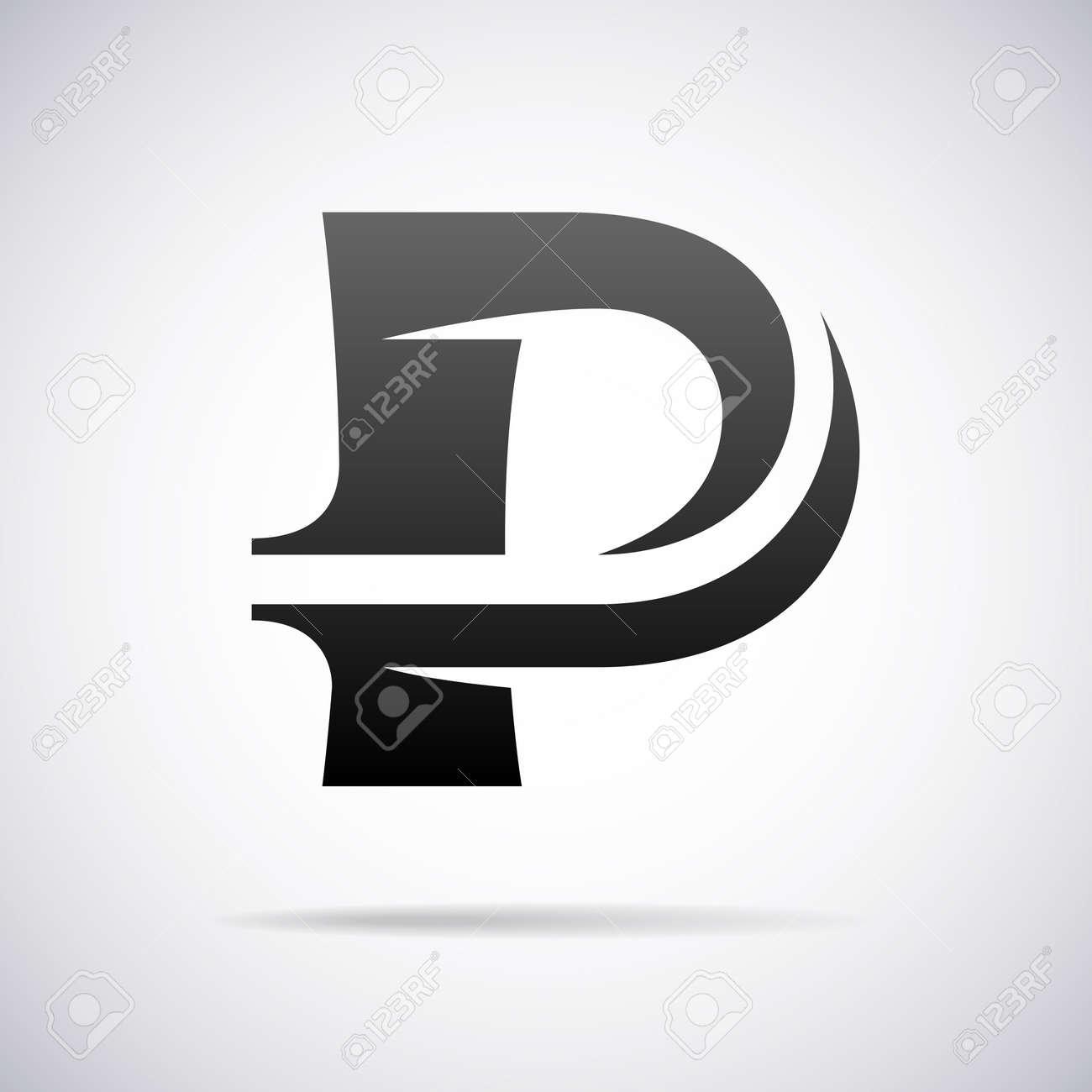 Logo For Letter P Design Template Vector Illustration Stock