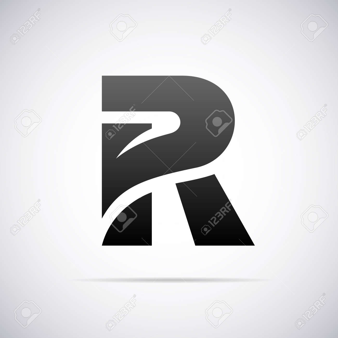 logo for letter r design template vector illustration stock vector 43083256
