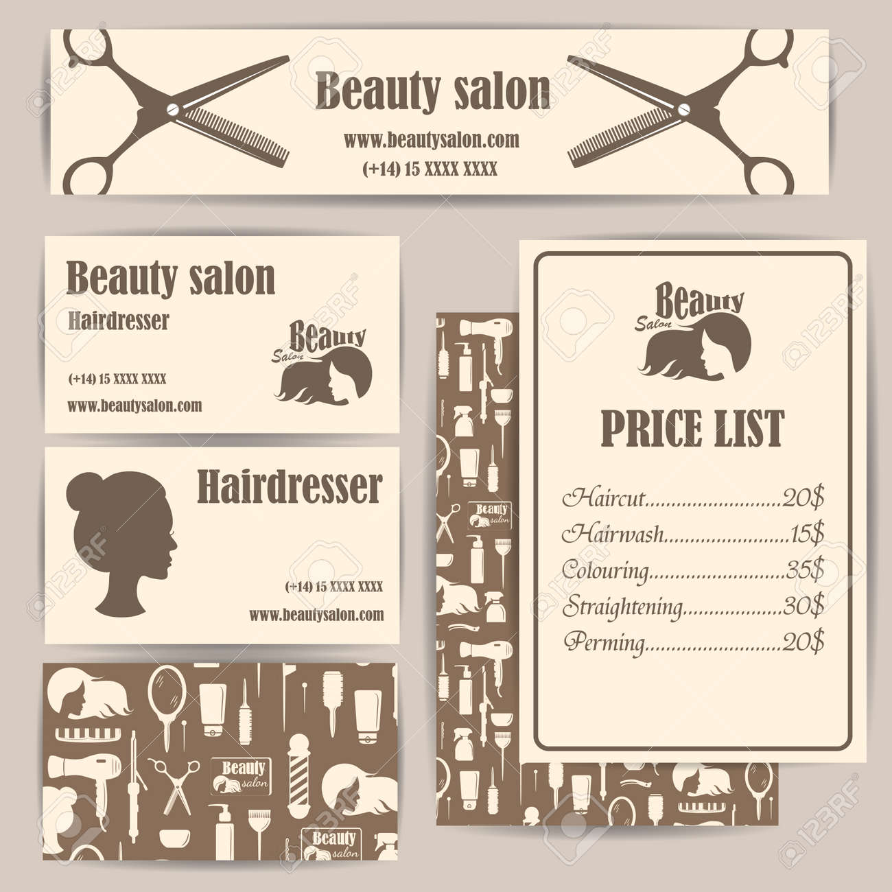 Hairdresser Price List Template from previews.123rf.com
