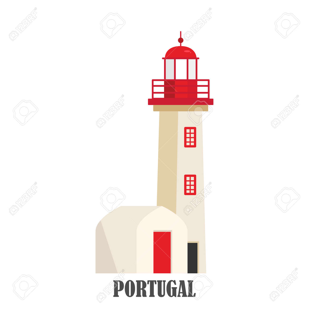 Portugal lighthouse Cabo de roca - 128778557