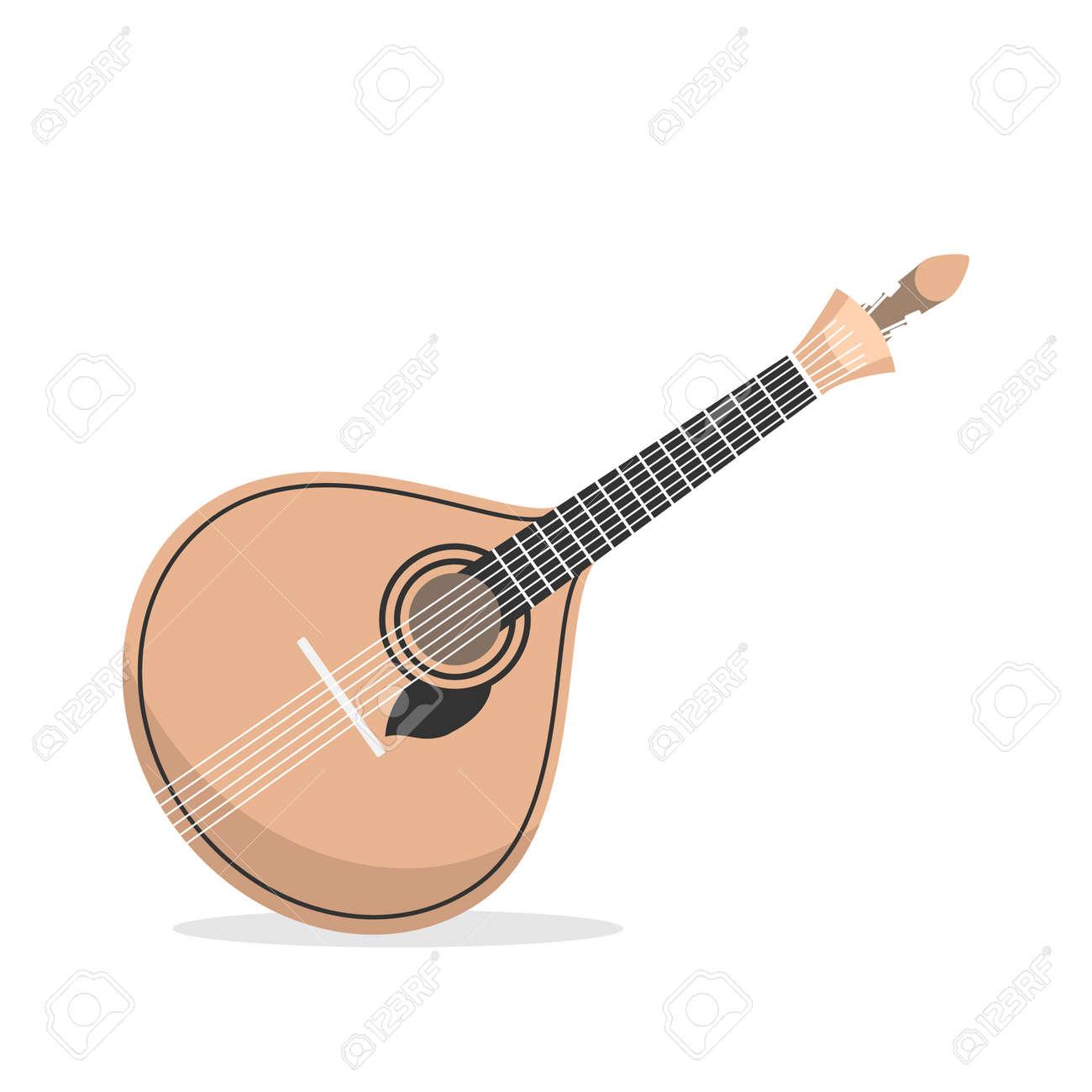 Traditional Portuguese guitar fado - 128778594