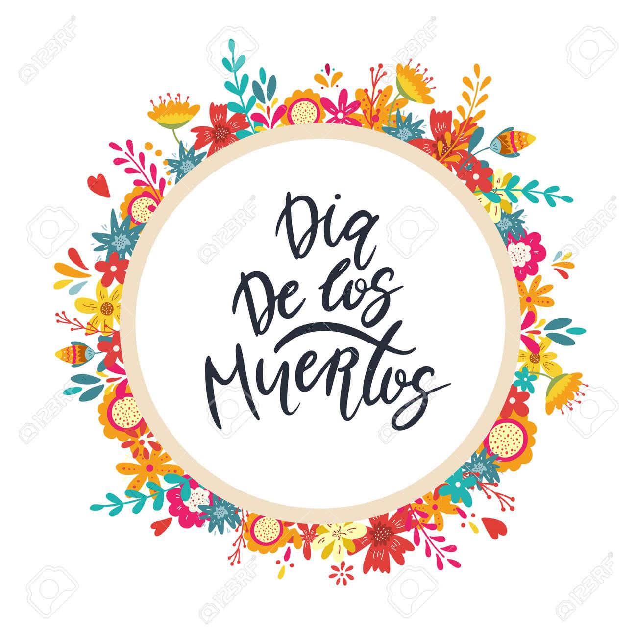 Dia de los muertos, Day of the dead, Mexican holiday banner, card - 132261176