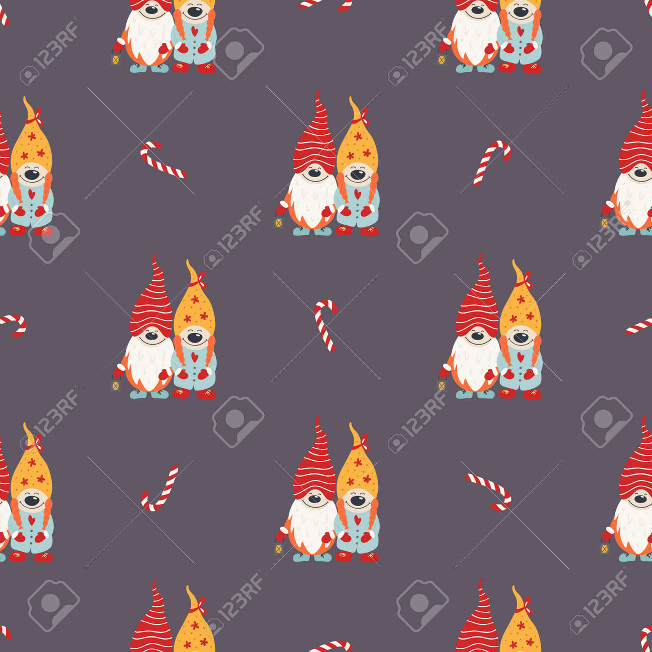 Christmas seamless pattern for background - 134853283