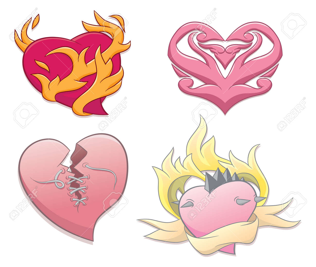 Tattoo Heart Stock Vector - 19124041