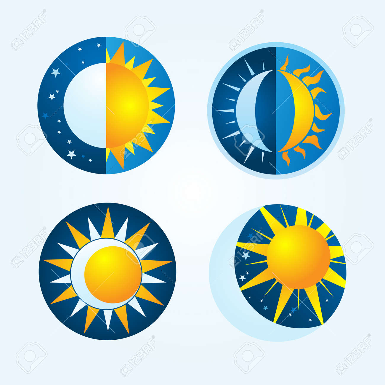 sun and moon royalty free cliparts vectors and stock illustration rh 123rf com Sun and Moon Art Anime Sun and Moon