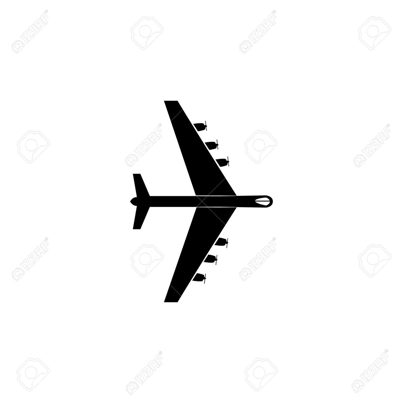 Heavy military aircraft icon  Military aircraft element icon