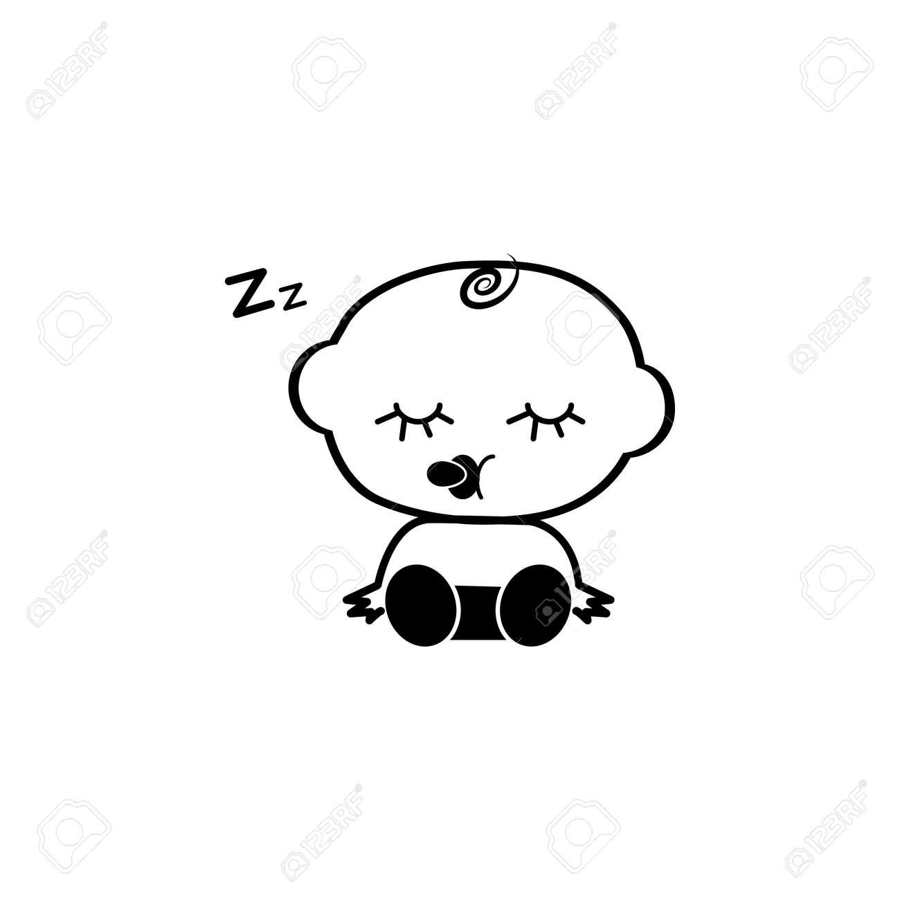 Sleeping Baby Boy Icon Baby Element Icon Premium Quality Graphic