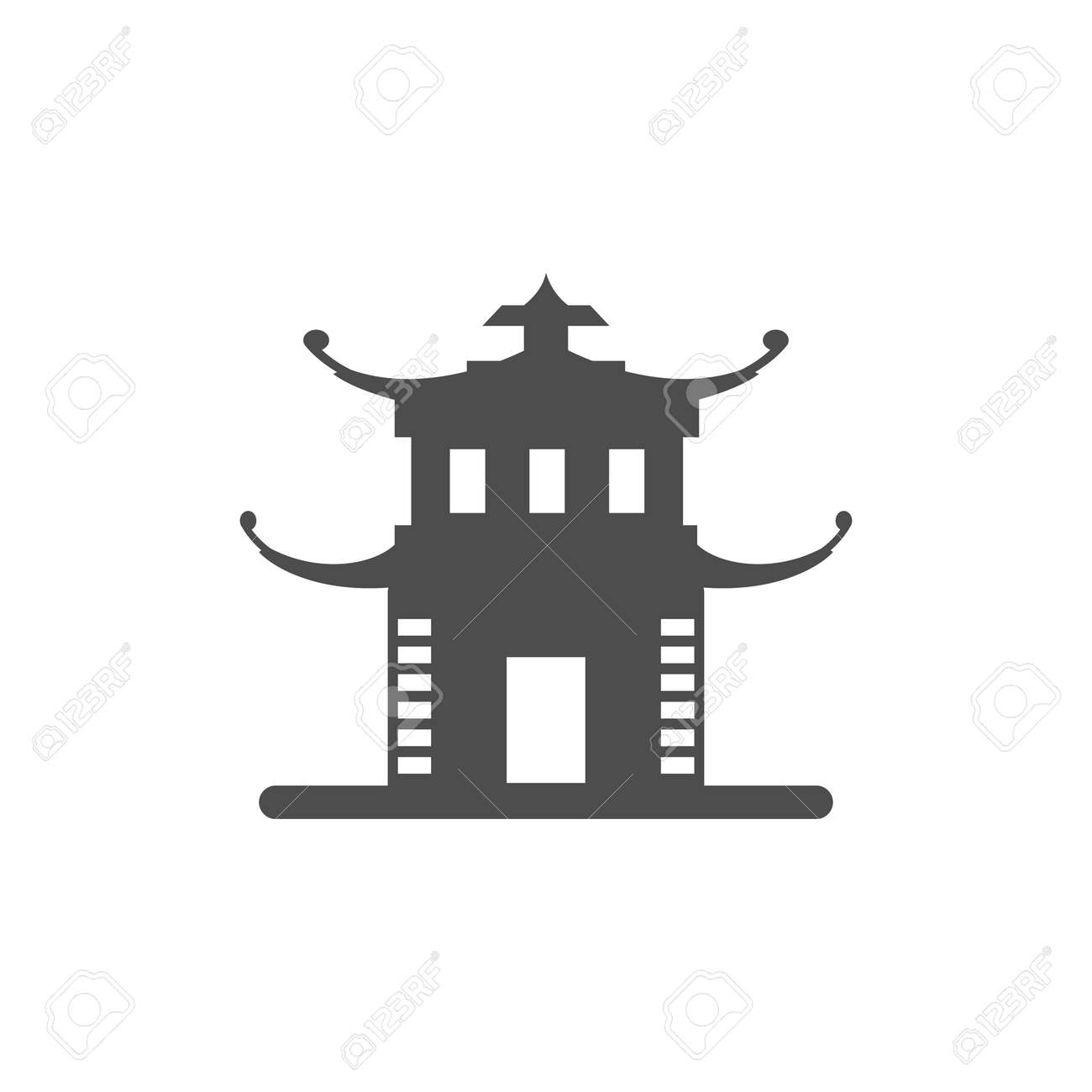 China Tower Icon Elements Of Chinese Culture Icon Premium Quality