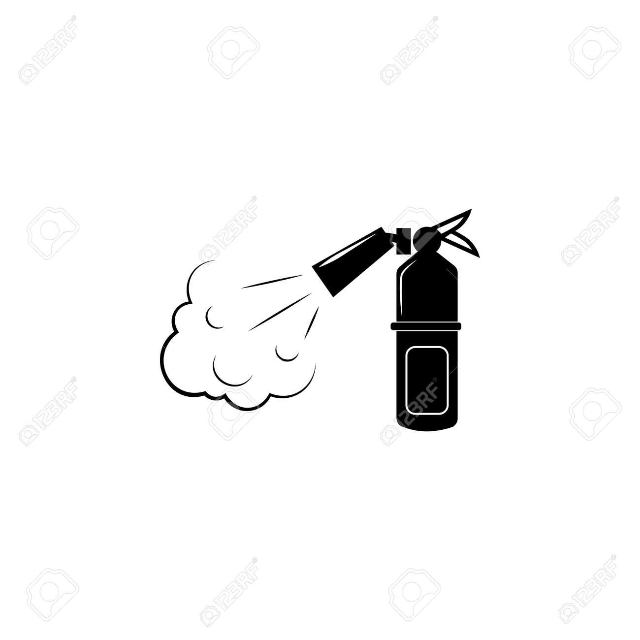 Fire extinguisher icon  Fireman element icon  Premium quality