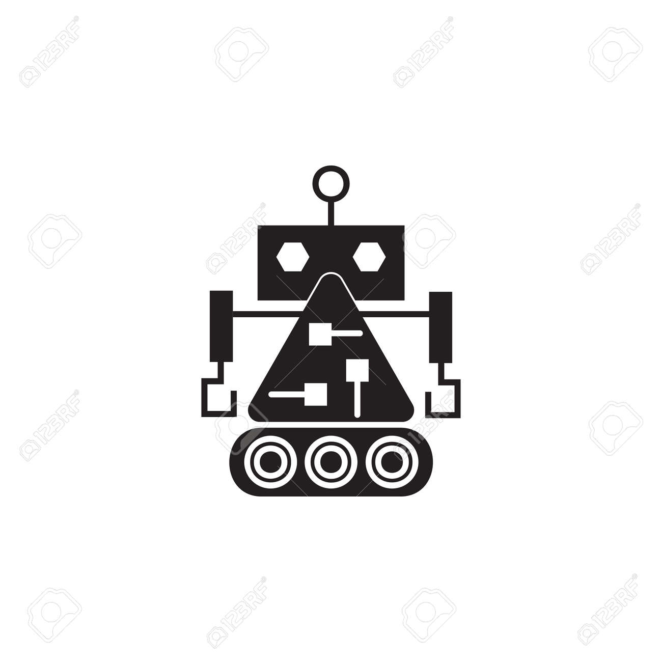 Robot builder icon  Element of robots for advertising signs,