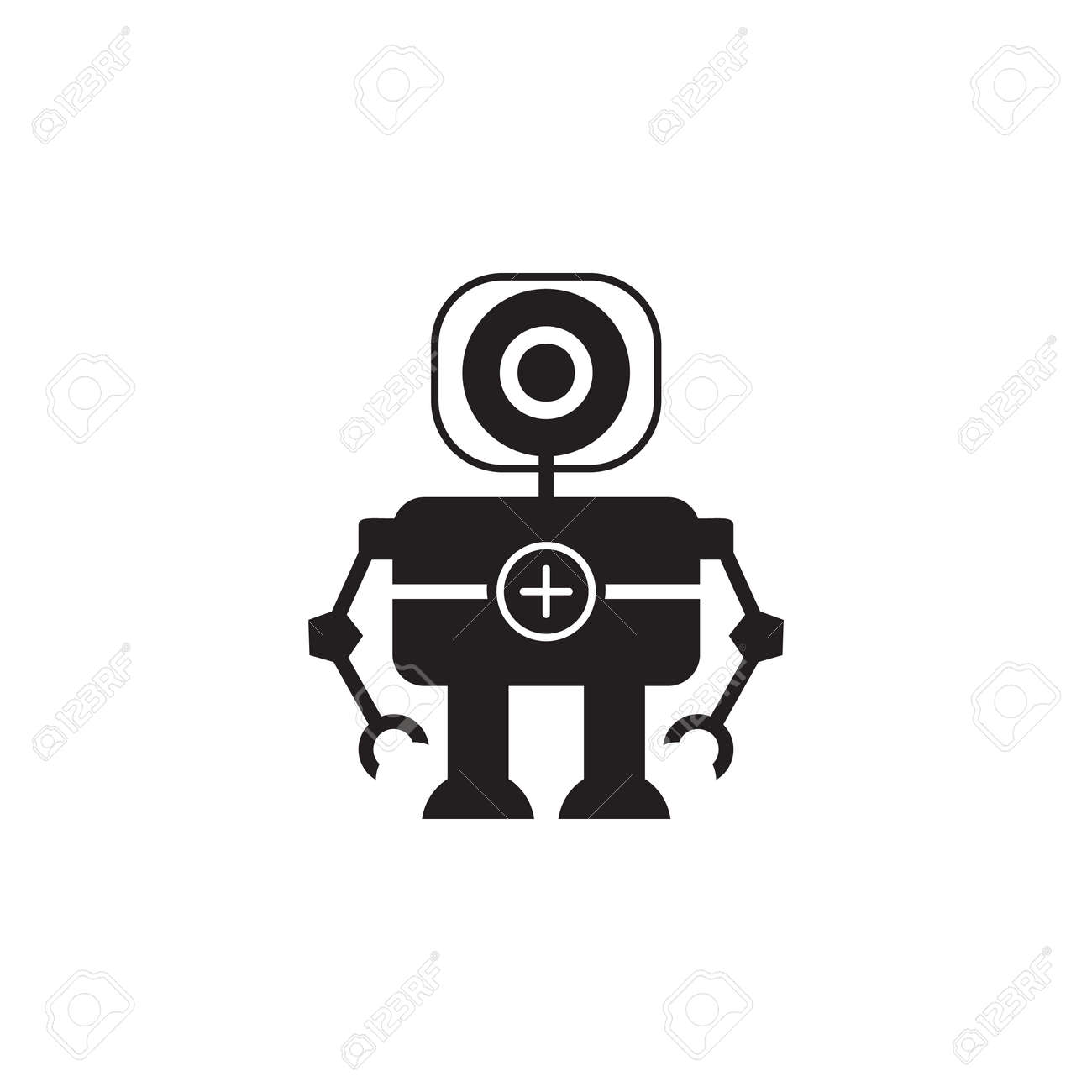 Robot doctor icon  Element of robots for advertising signs, mobile