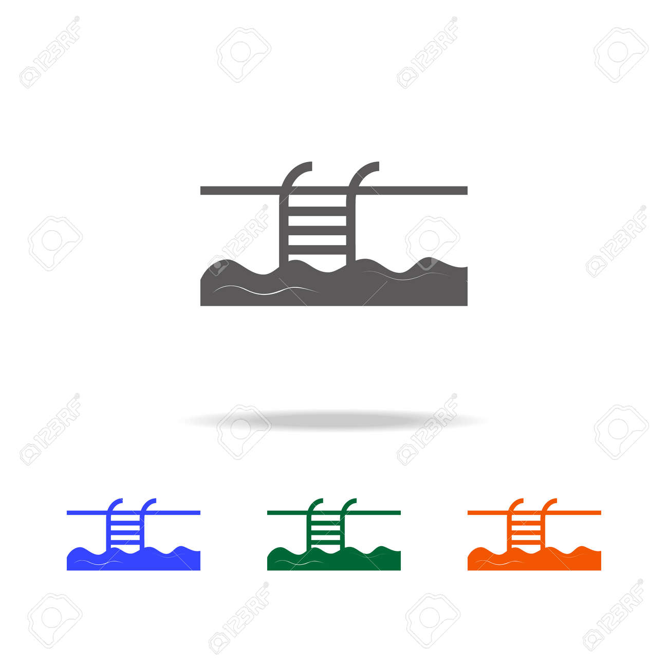 Swimming Pool icon. Element of Beach holidays multi colored icons..