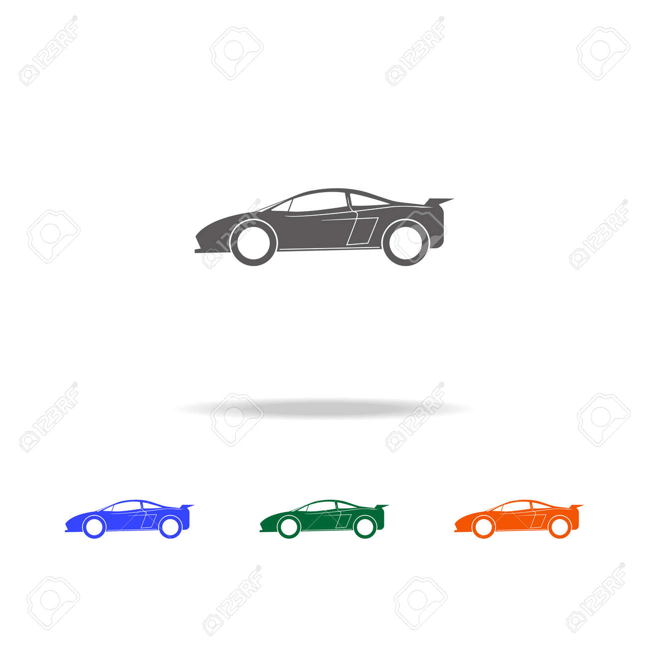 Sports Car Icon Types Of Cars Elements In Multi Colored Icons