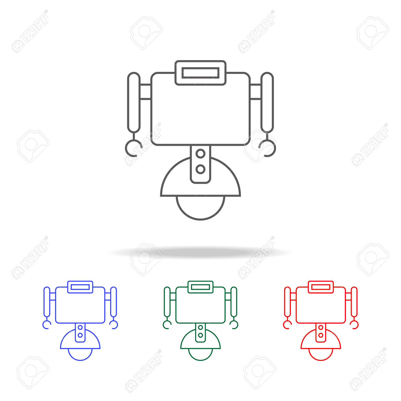 Robot on wheels icon  Elements in multicolored icons for mobile