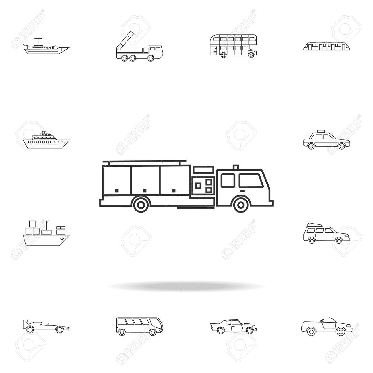Fire Truck Icon Detailed Set Of Transport Outline Icons Premium Quality Graphic Design
