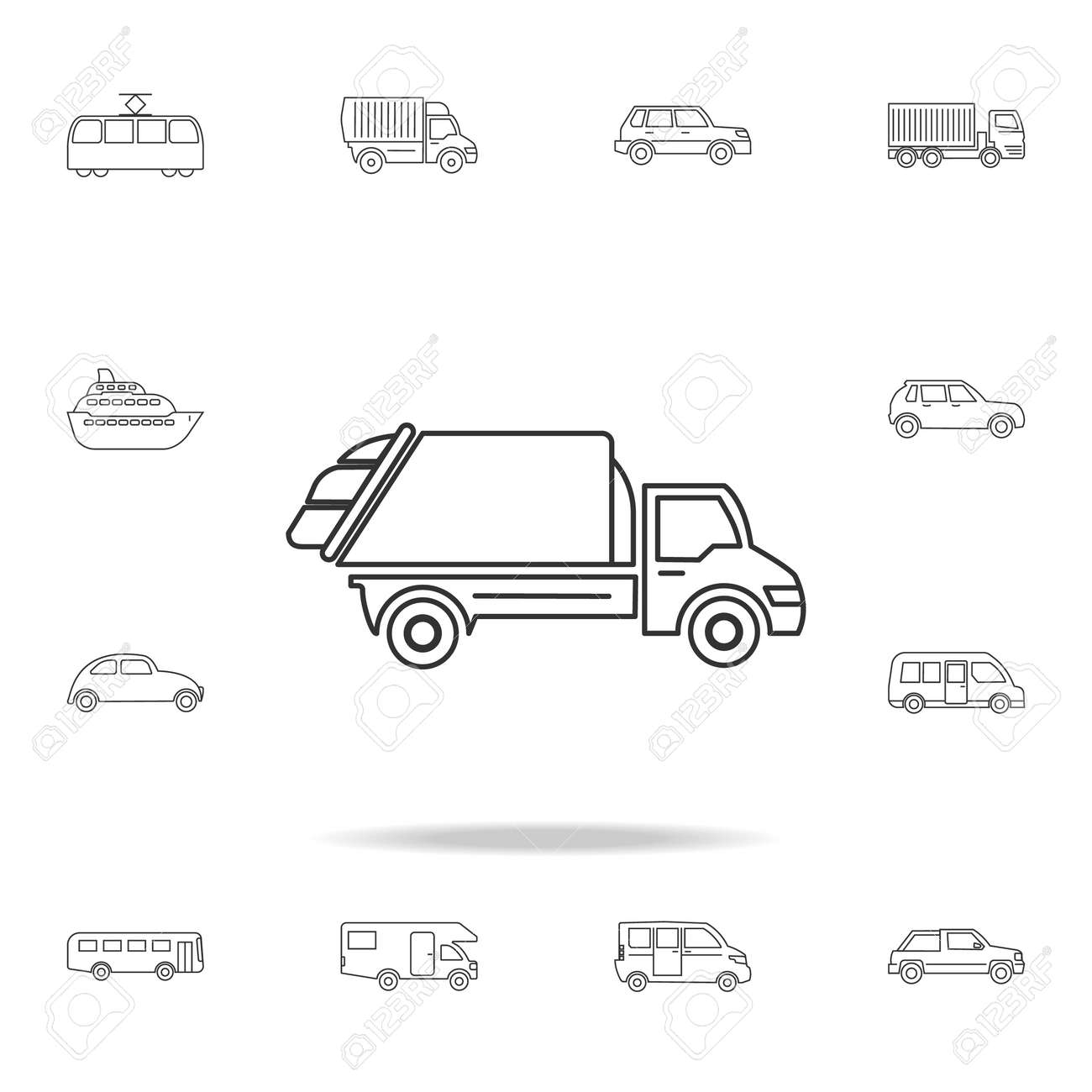 Garbage Truck Icon Detailed Set Of Transport Outline Icons Premium Quality Graphic Design