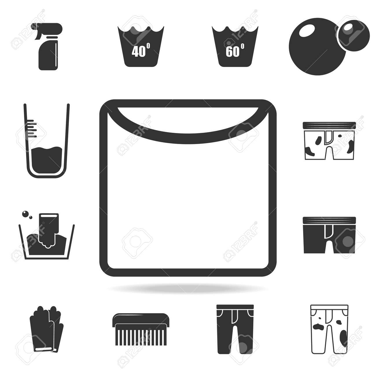 Drying in unfolded form icon  Detailed set of laundry icons