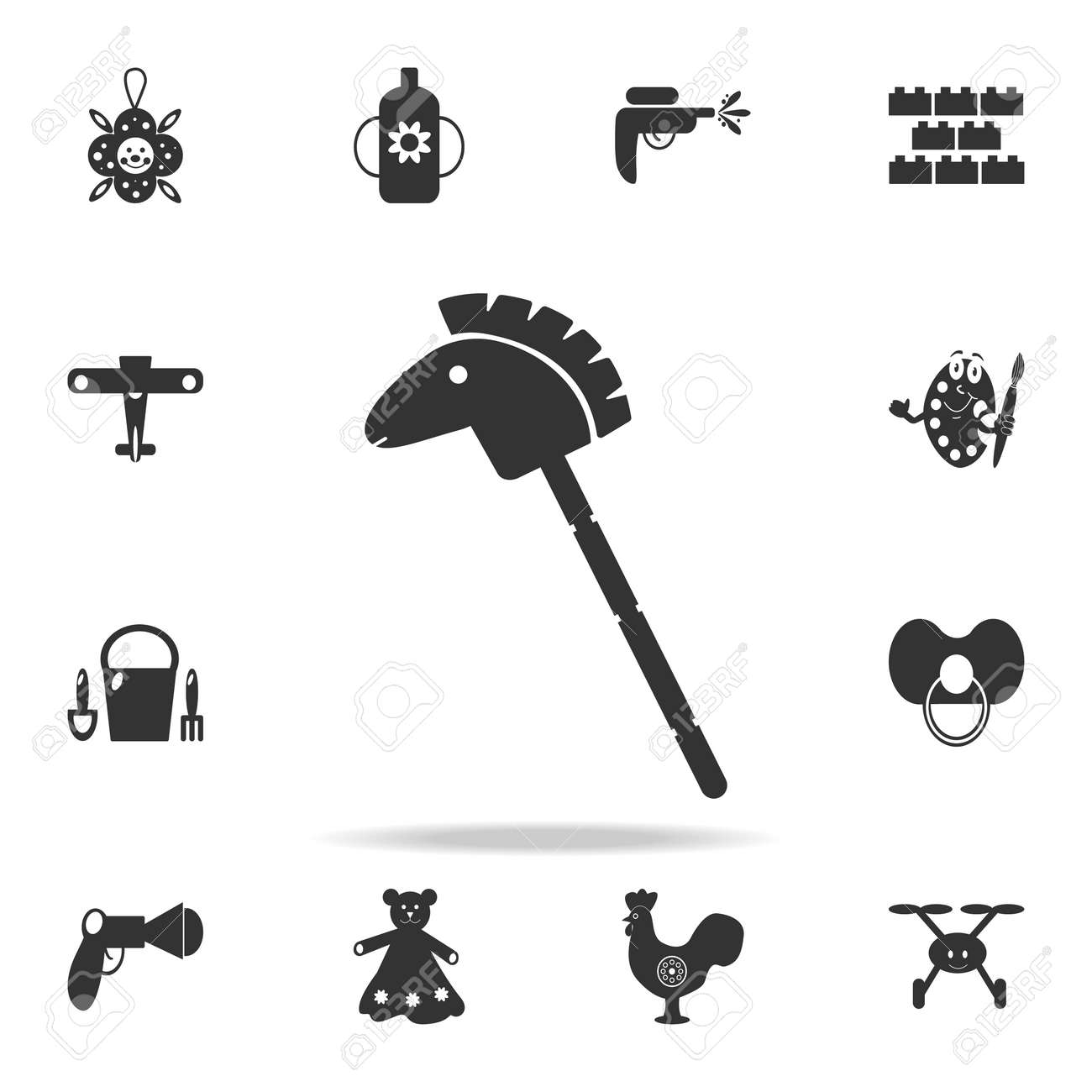 Horse Stick Silhouette Toy Icon Detailed Set Of Baby Toys Icons