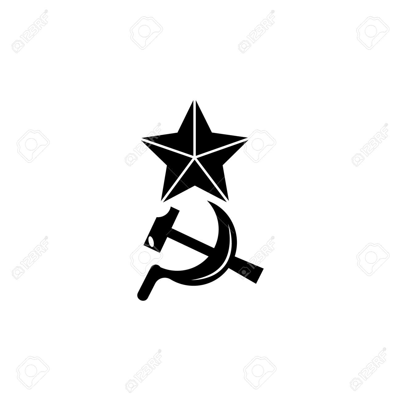 Sickle Hammer And Star Icon Element Of Communism Illustration