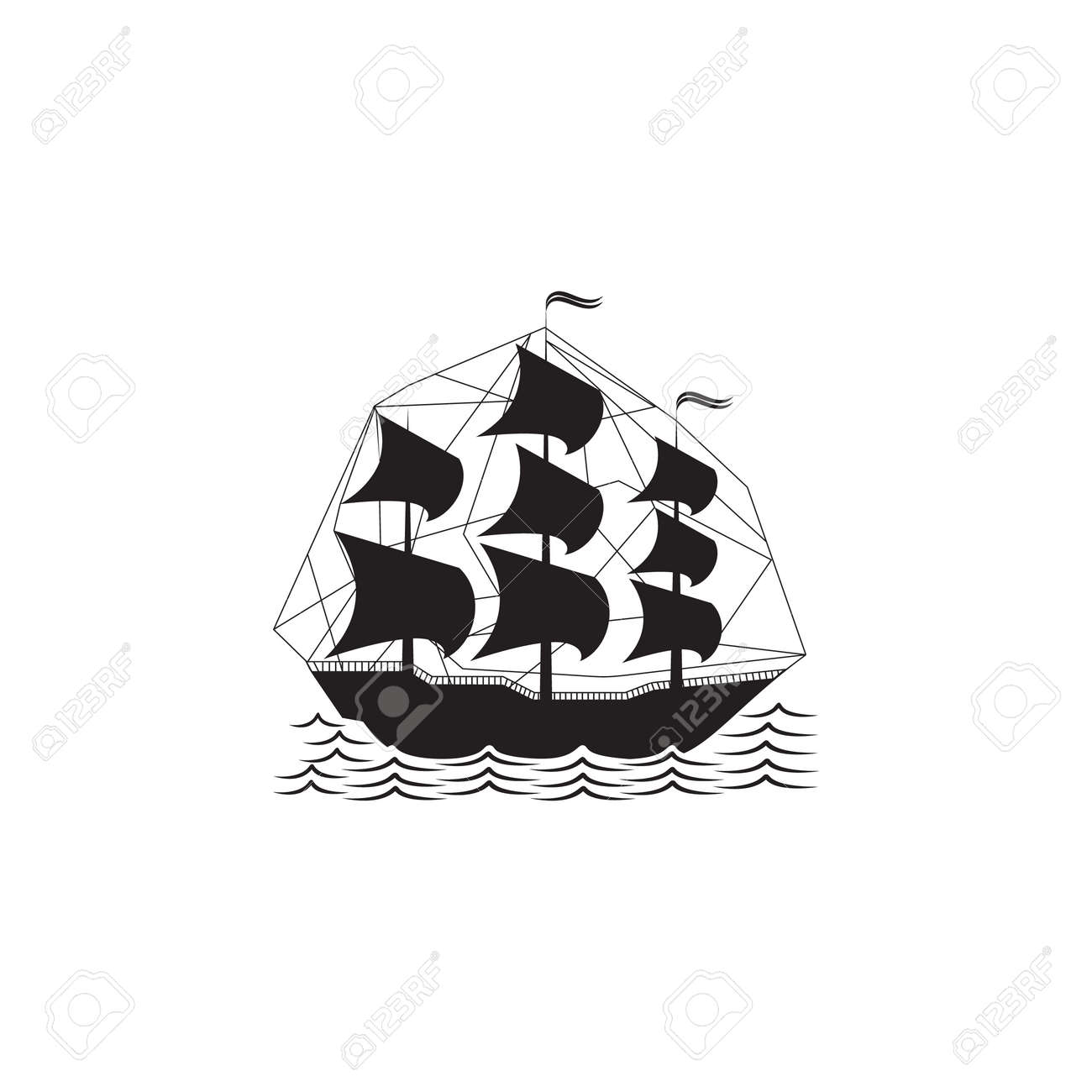 Military sailing ship icon  Element of ship illustration  Premium