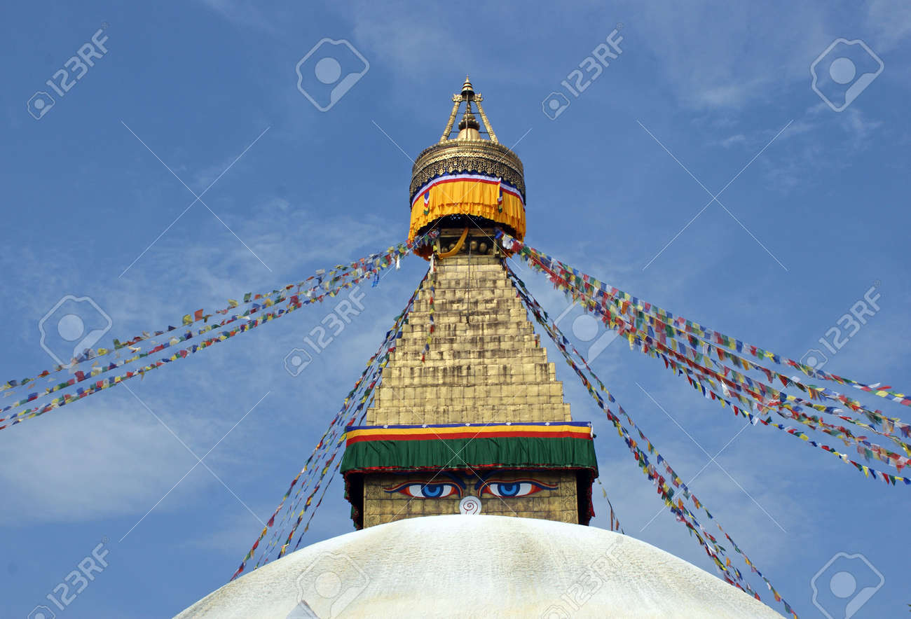 Boudhanath also called Bouddhanath, Bodhnath or Baudhanath or the Khasa Caitya is one of the holiest Buddhist sites in Kathmandu, Nepal. Stock Photo - 5727229