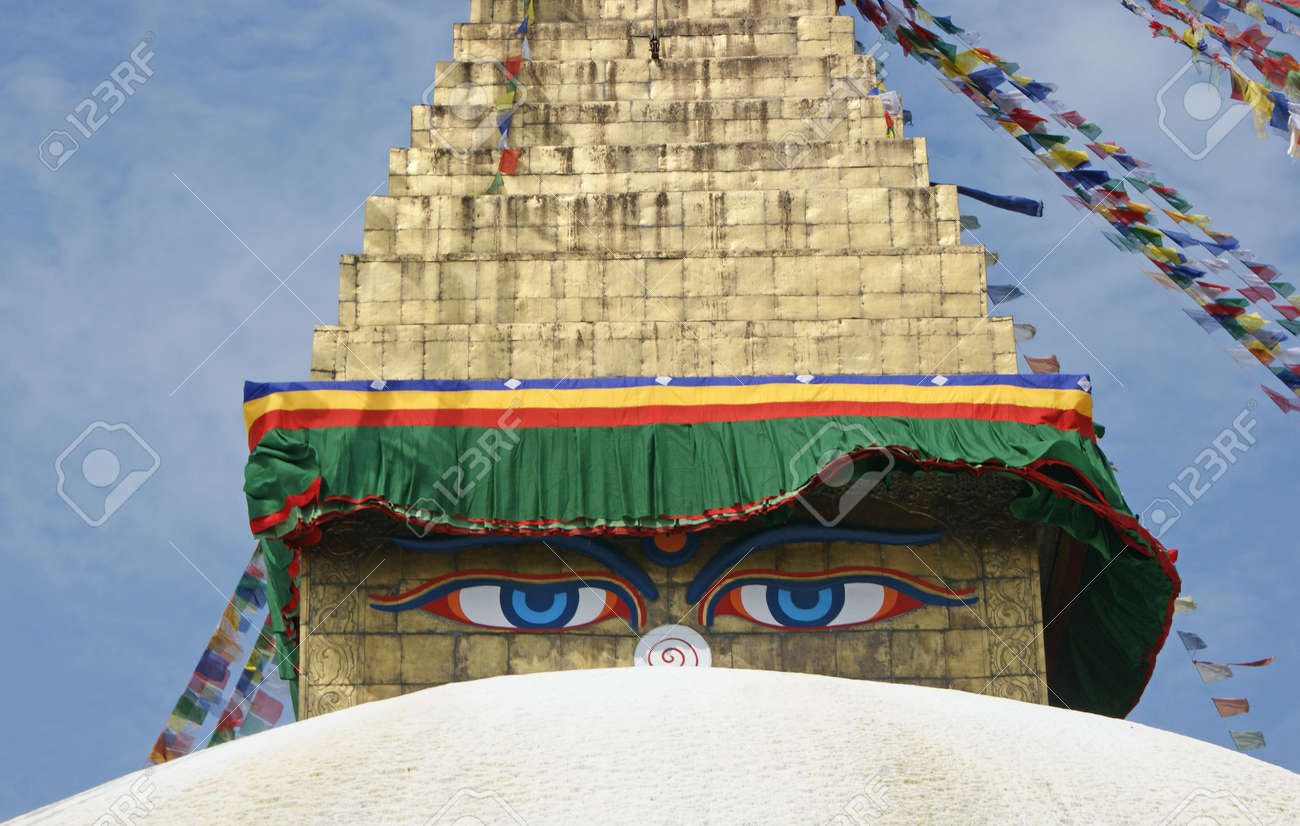 The buddhist stupa of Bodhnath in Kathmandu the capital of Nepal Stock Photo - 5727226