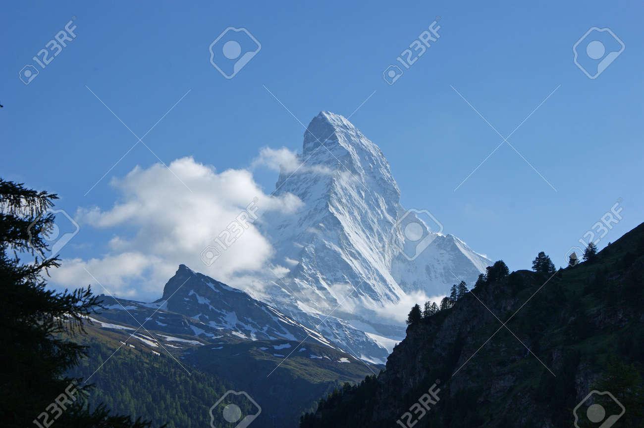 The top of the Matterhorn mountain close to Zermatt in Switzerland Stock Photo - 7328069