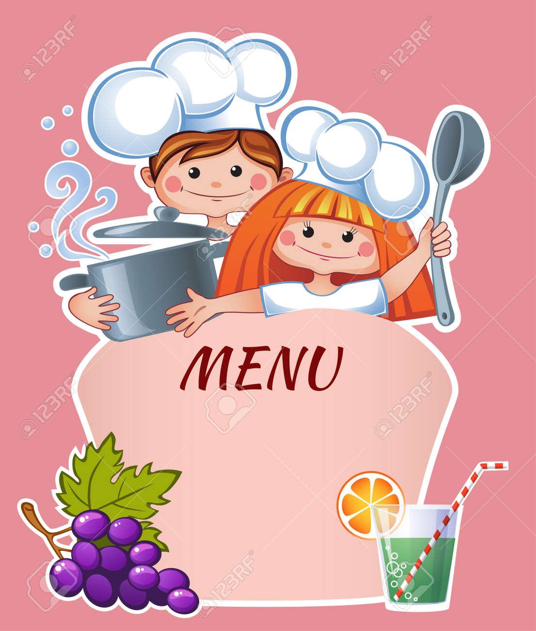 Plantilla De Menú Para Niños Ilustraciones Vectoriales, Clip Art ...