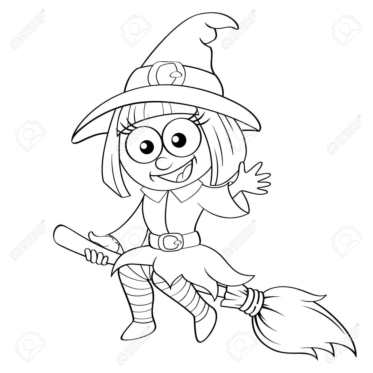 Nett Halloween Fliegen Hexe Malvorlagen Ideen - Druckbare ...