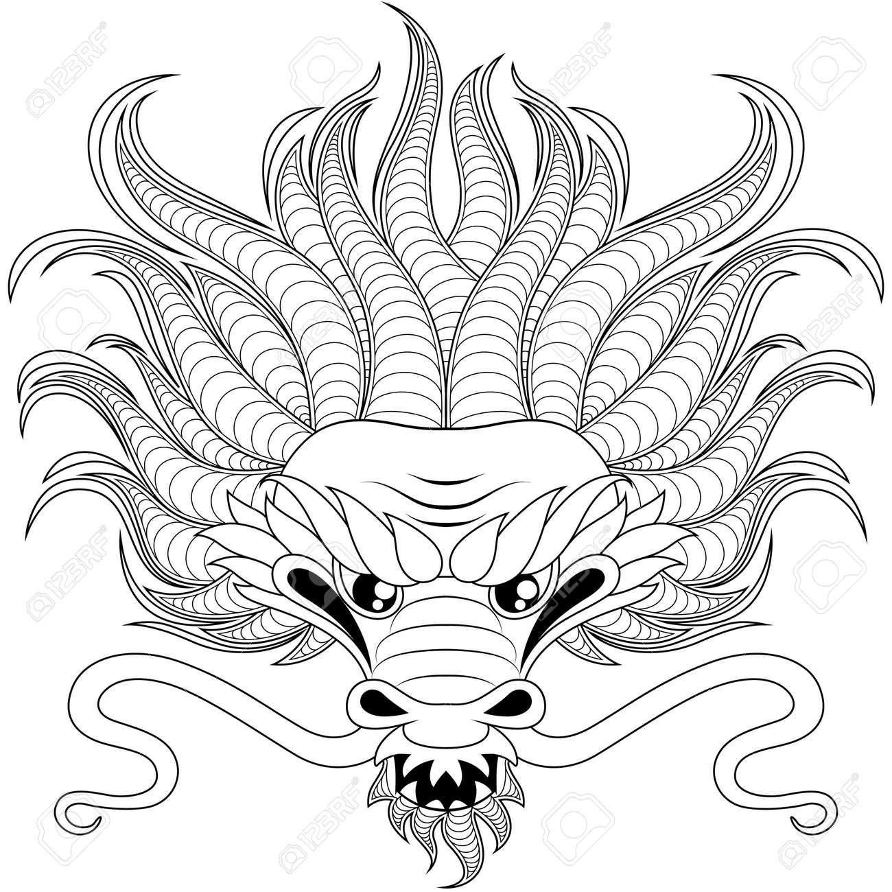 Chinesische Drachen Ausmalbilder : Gro Z Gig Chinesische Drachen Maske Malvorlagen Zeitgen Ssisch