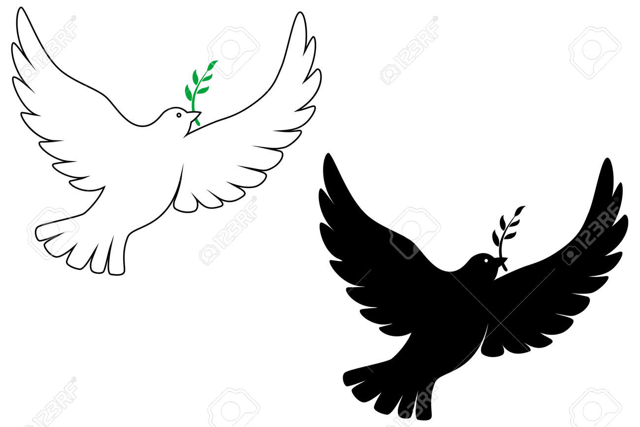 peace dove vector drawing royalty free cliparts vectors and stock rh 123rf com dove vector logo dove vector freepik