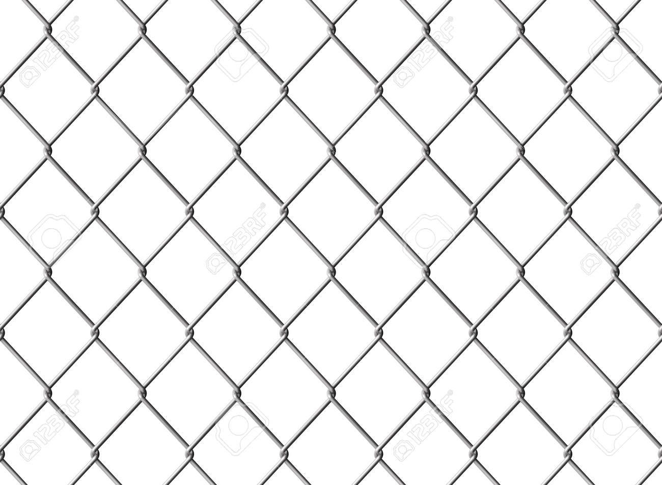 Isolated Chainlink Fence Seamless Texture Computer Generated