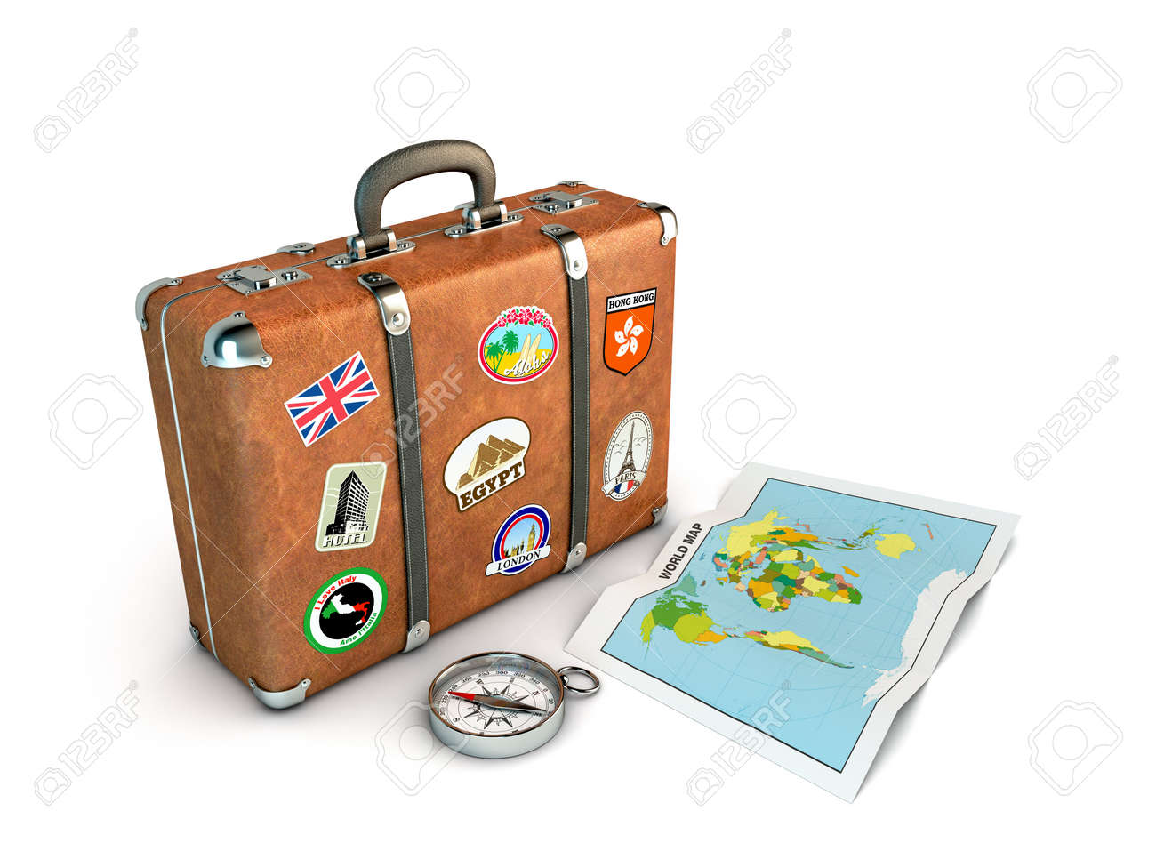 Travel suitcase with compass and world map computer generated travel suitcase with compass and world map computer generated image stock photo 12785446 gumiabroncs Image collections