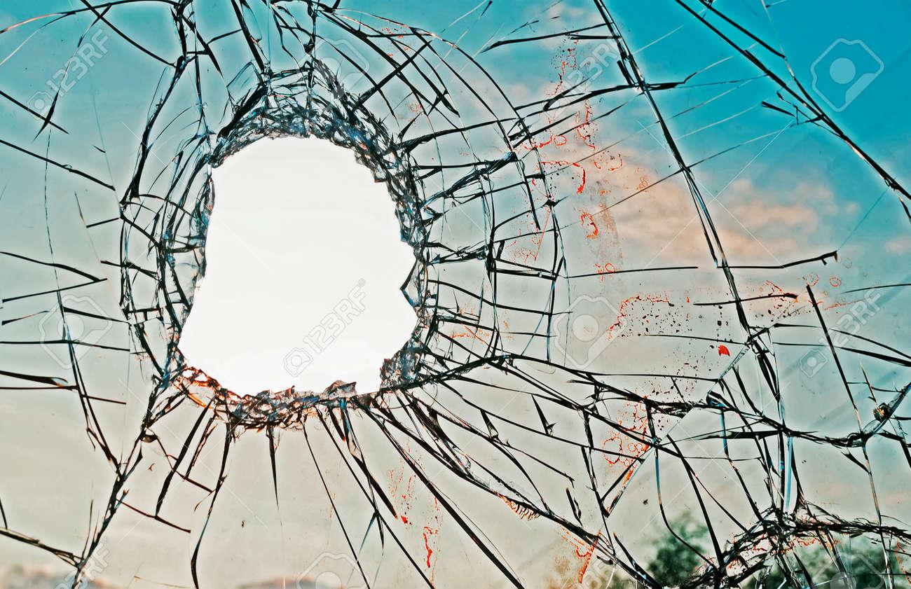 blood on a broken glass - 29146067