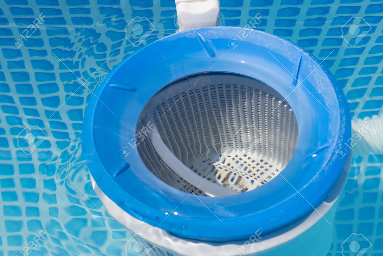 close up of a pool filter - 32386428