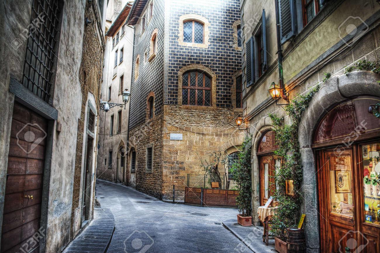 beautiful narrow street in Florence, Italy - 45470067