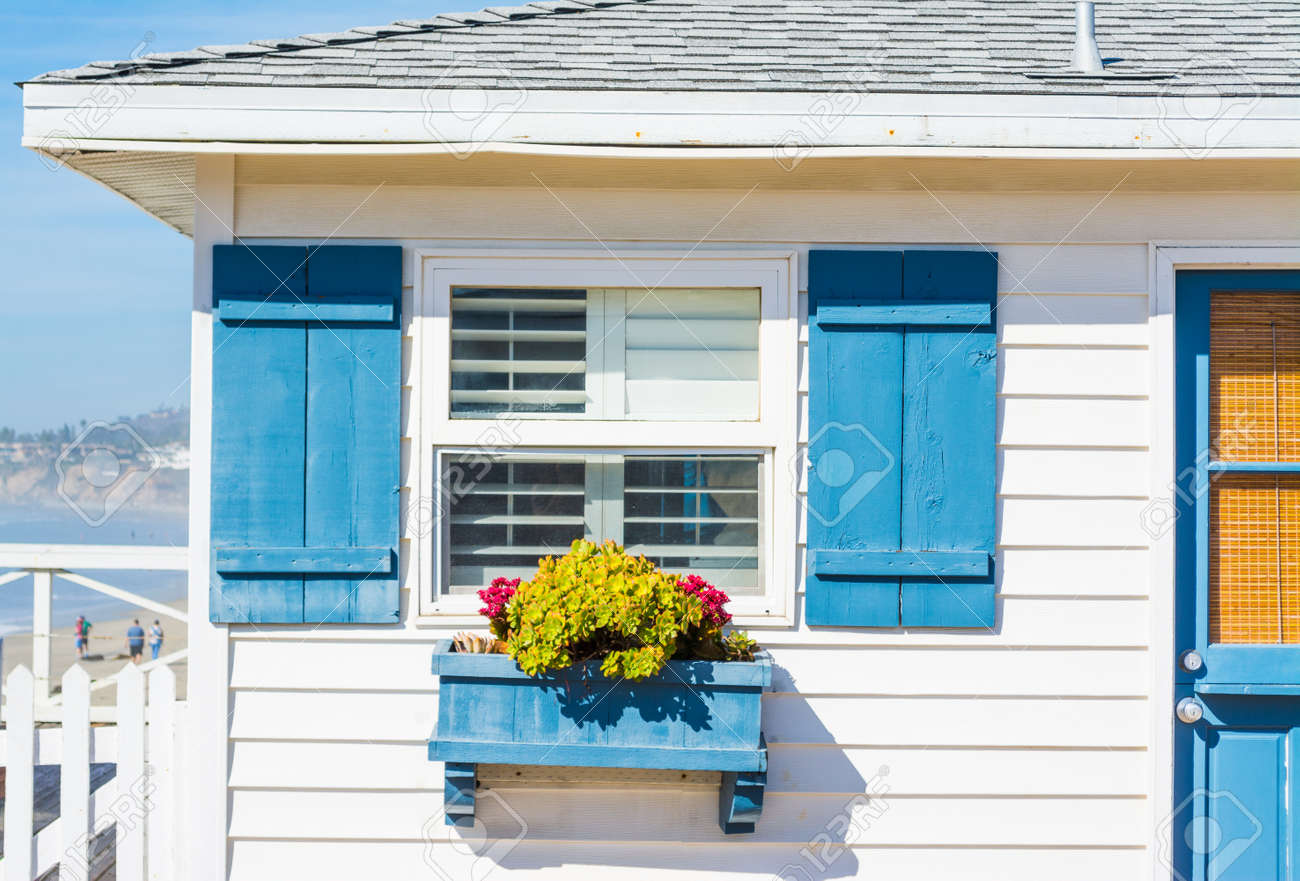 close up of a wooden house in California, USA - 69122276