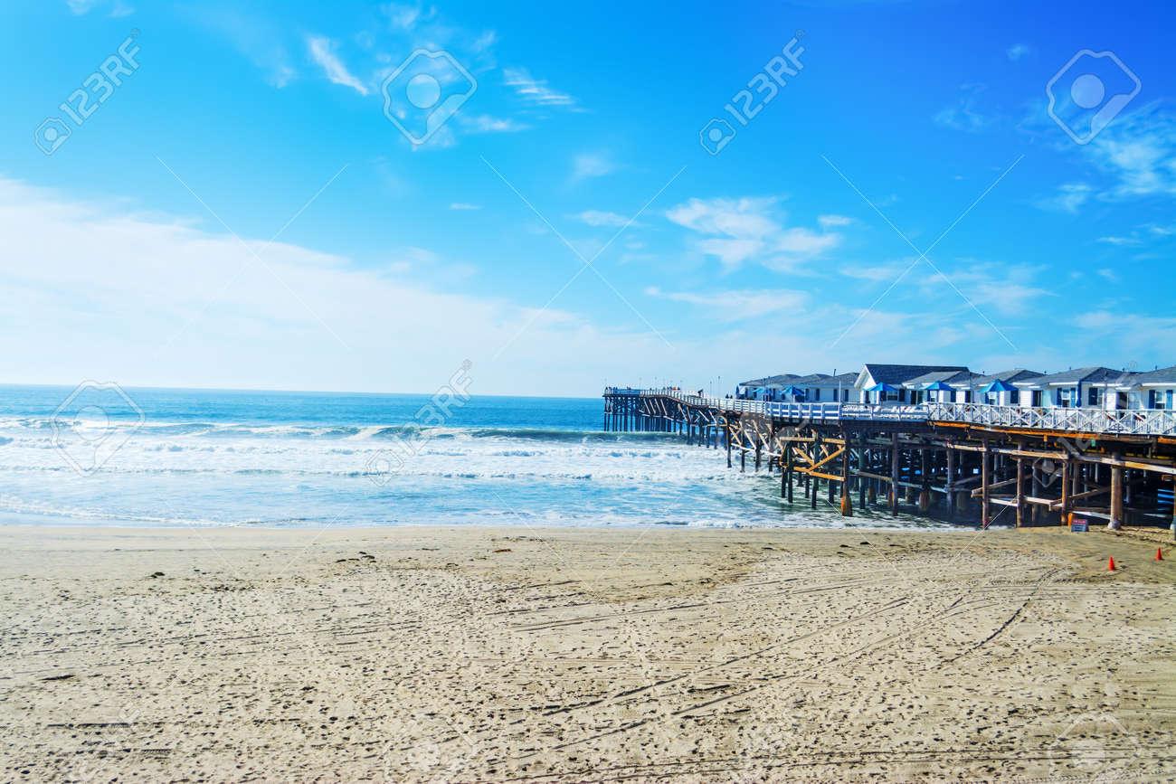 Crystal pier in Pacific Beach, California - 69122489
