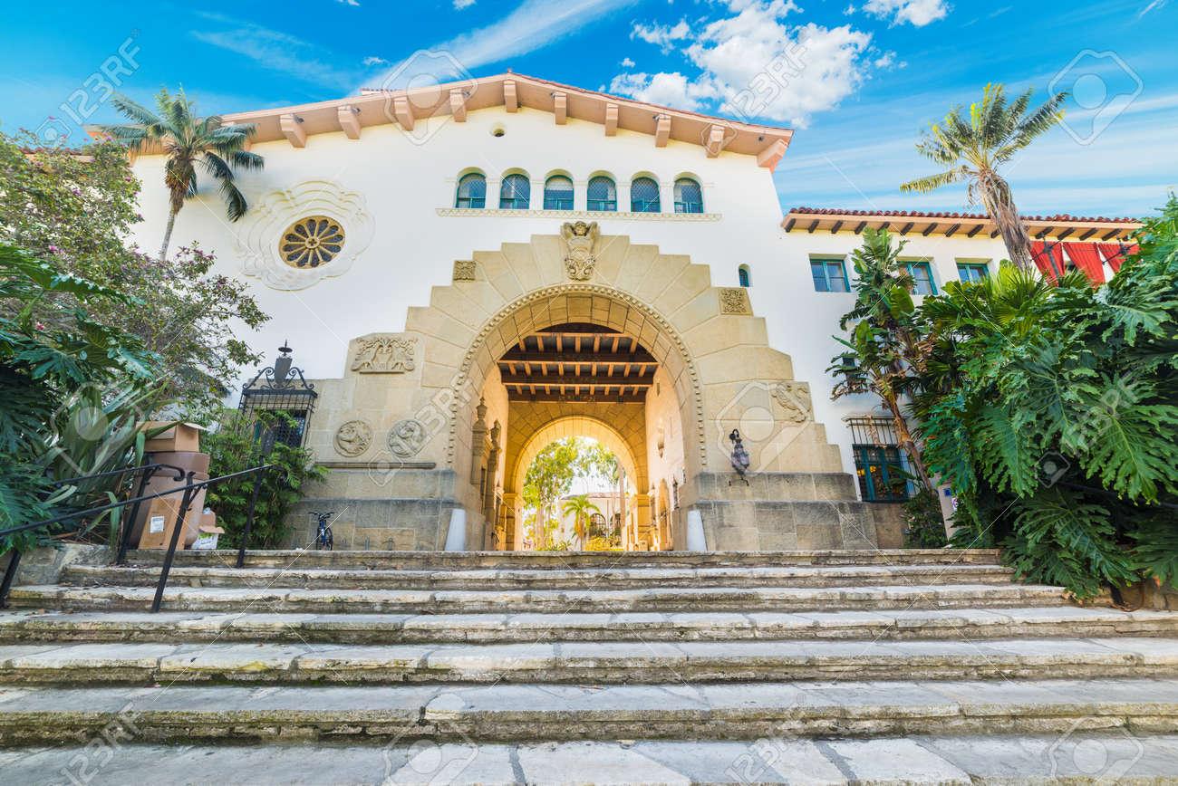 stairs in Santa Barbara courthouse, California - 69276750