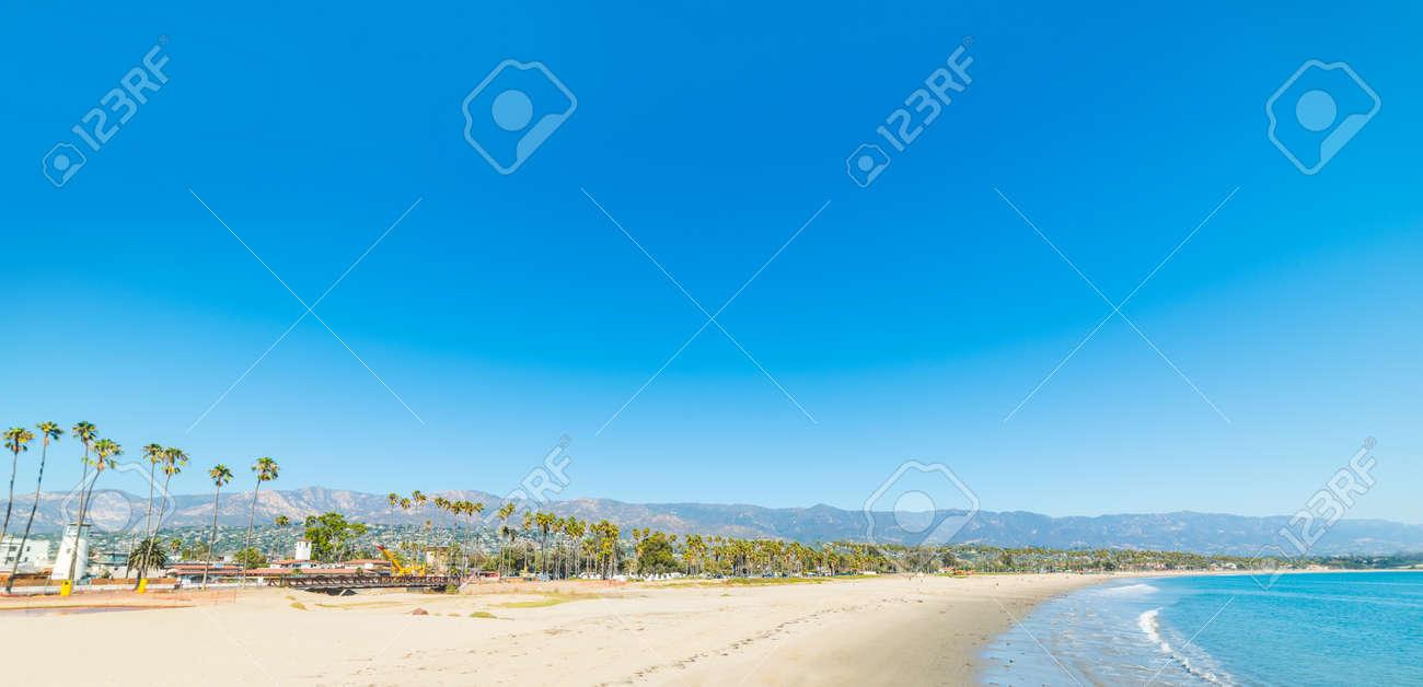Blue sky over Santa Barbara shoreline, California - 72365924