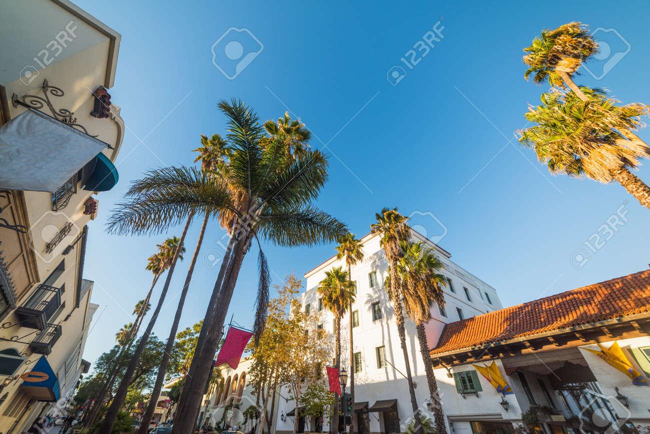 State street in Santa Barbara on a clear day, California - 94656971