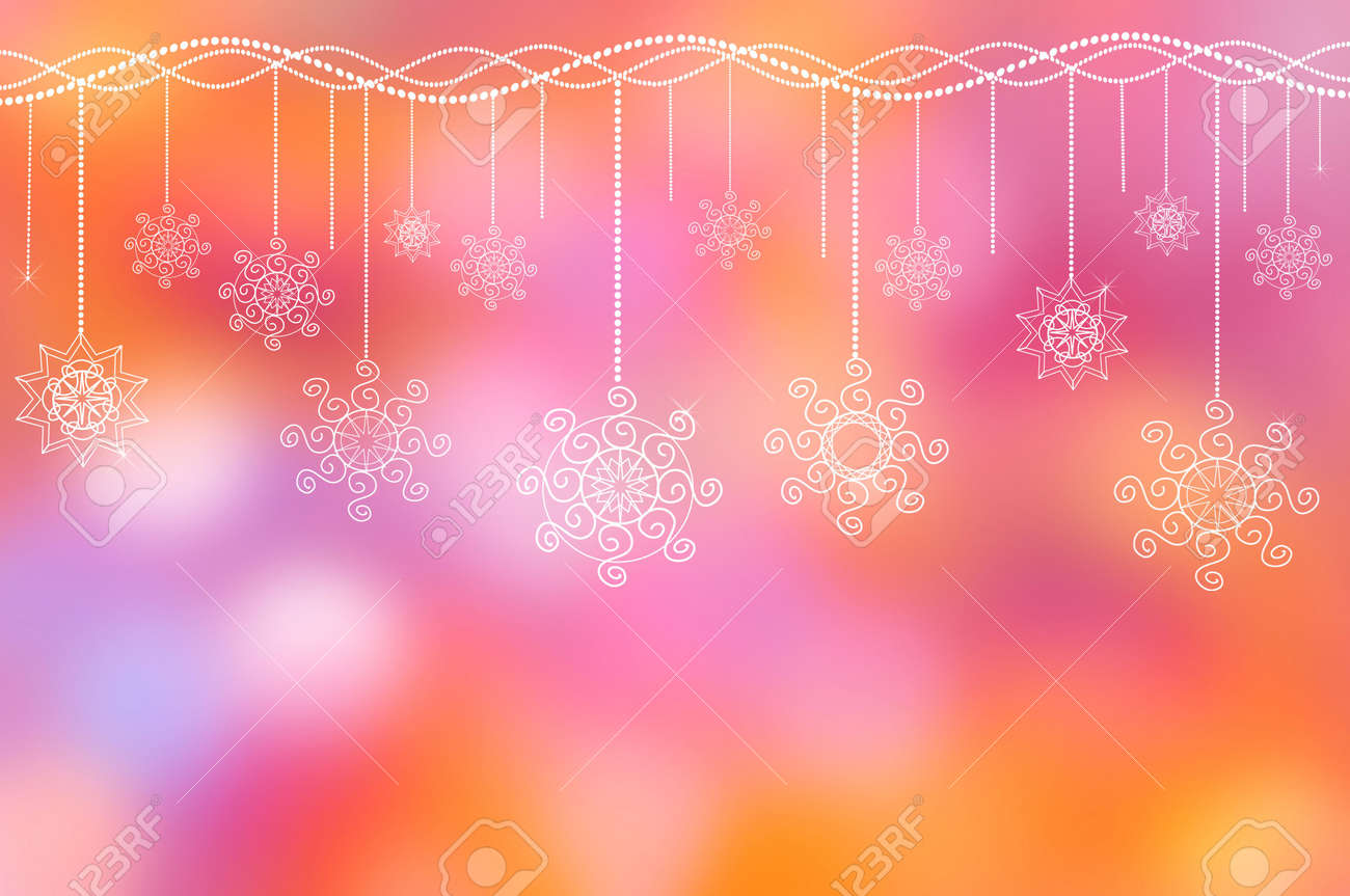 holiday ornament on the lilac-pink background Stock Photo - 7875845