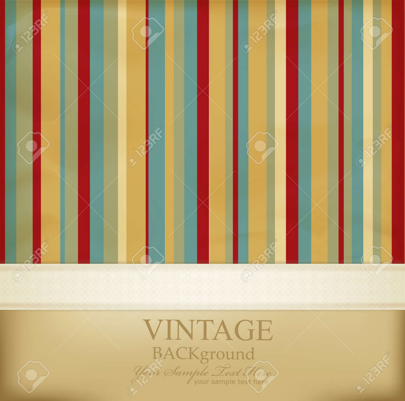 vintage striped abstract background Stock Vector - 9157303