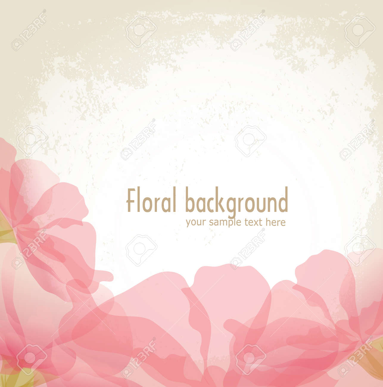vector pink petals of a flower on grunge background Stock Vector - 9223848