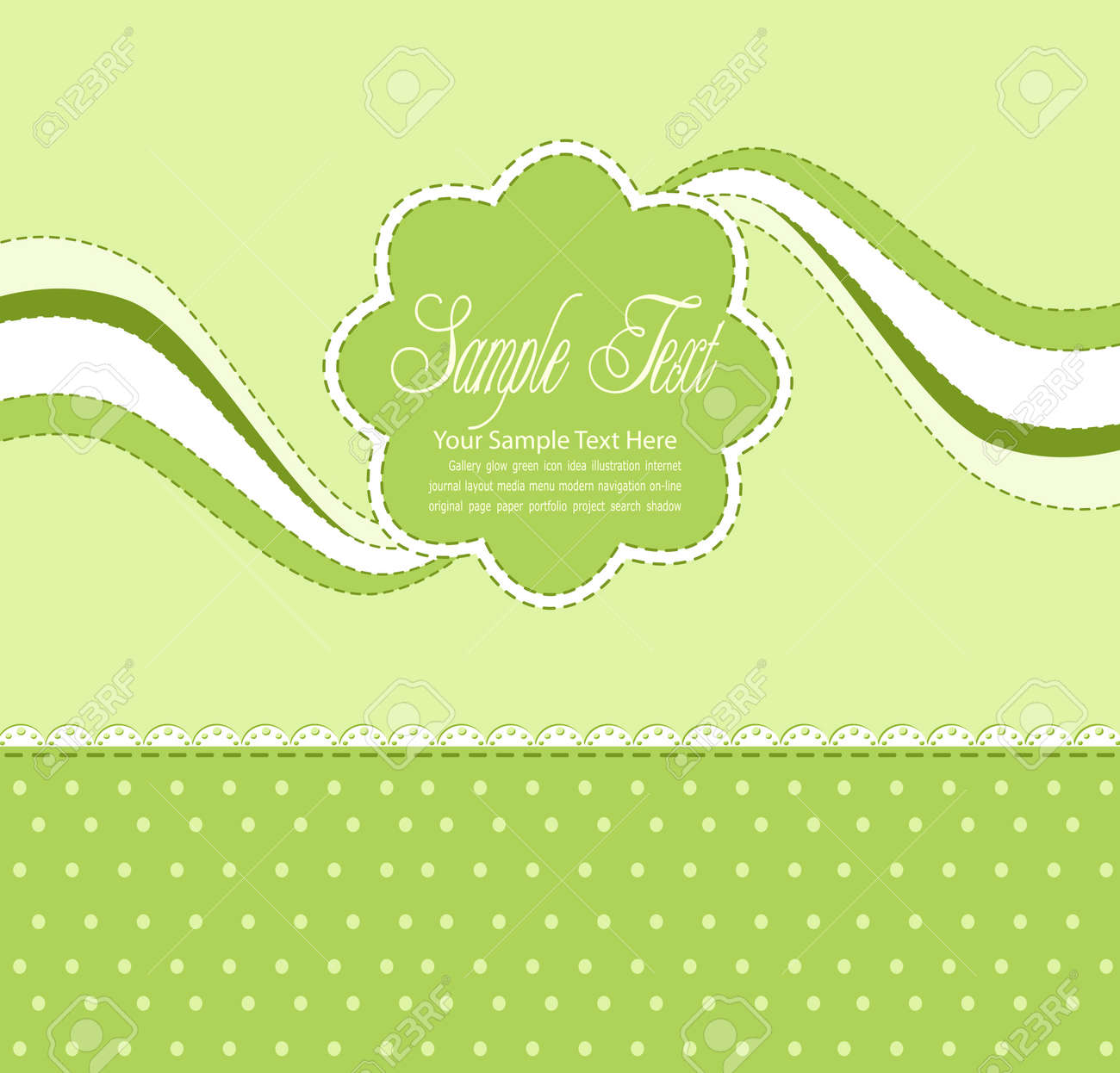 vector green background with daisies Stock Vector - 9459111