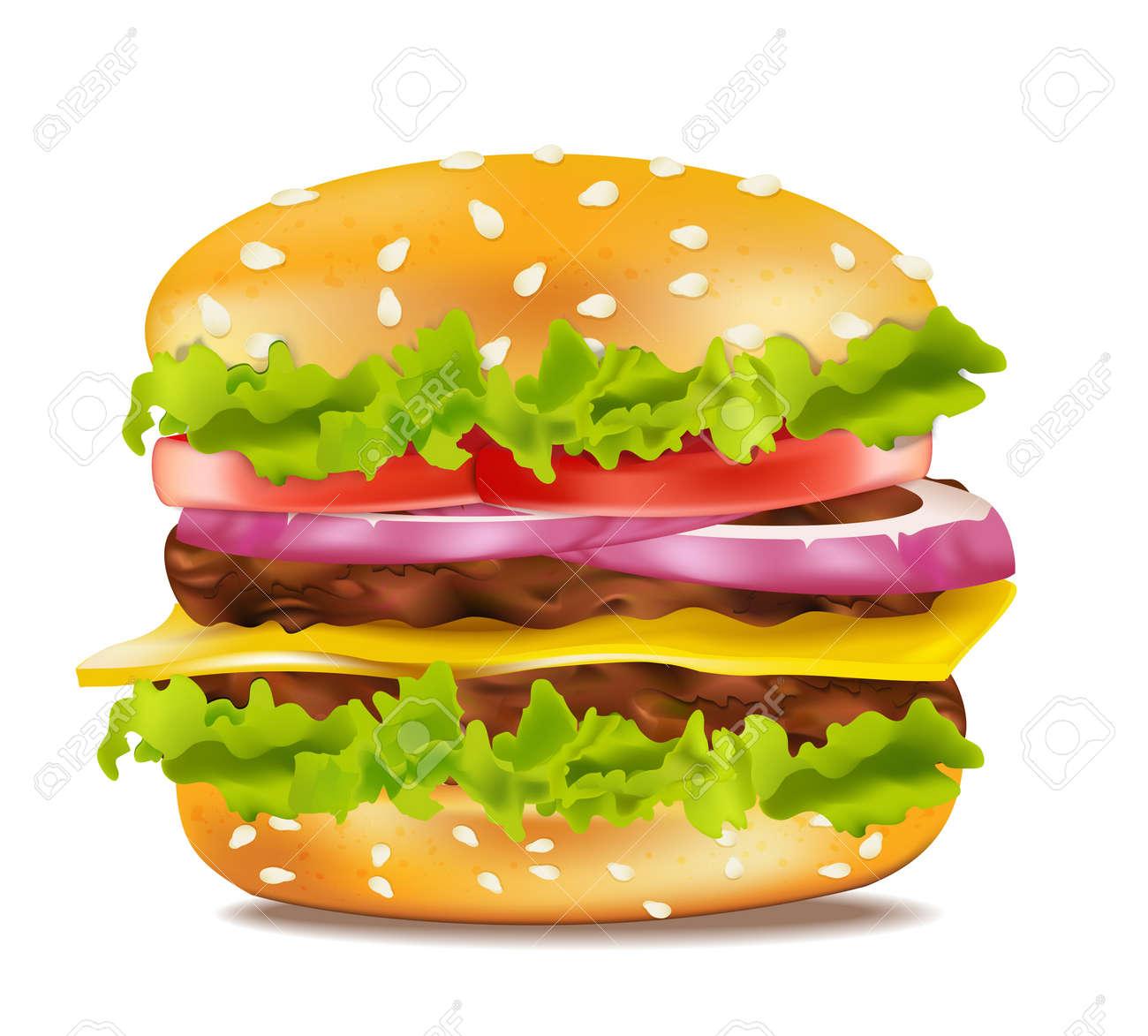 Vector cheeseburger on a white background Stock Vector - 9549740
