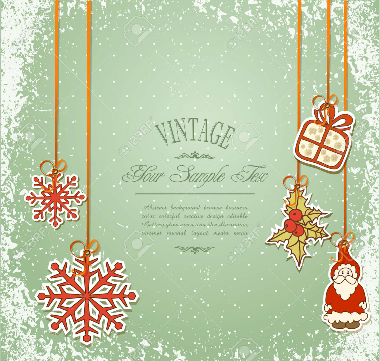 Vintage, grungy New Year, Christmas background Stock Vector - 10422038