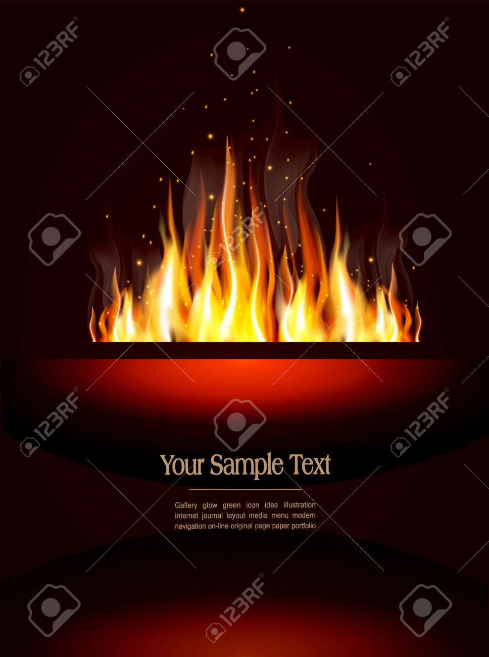 booklet with a burning flame and place for text Stock Vector - 12083027