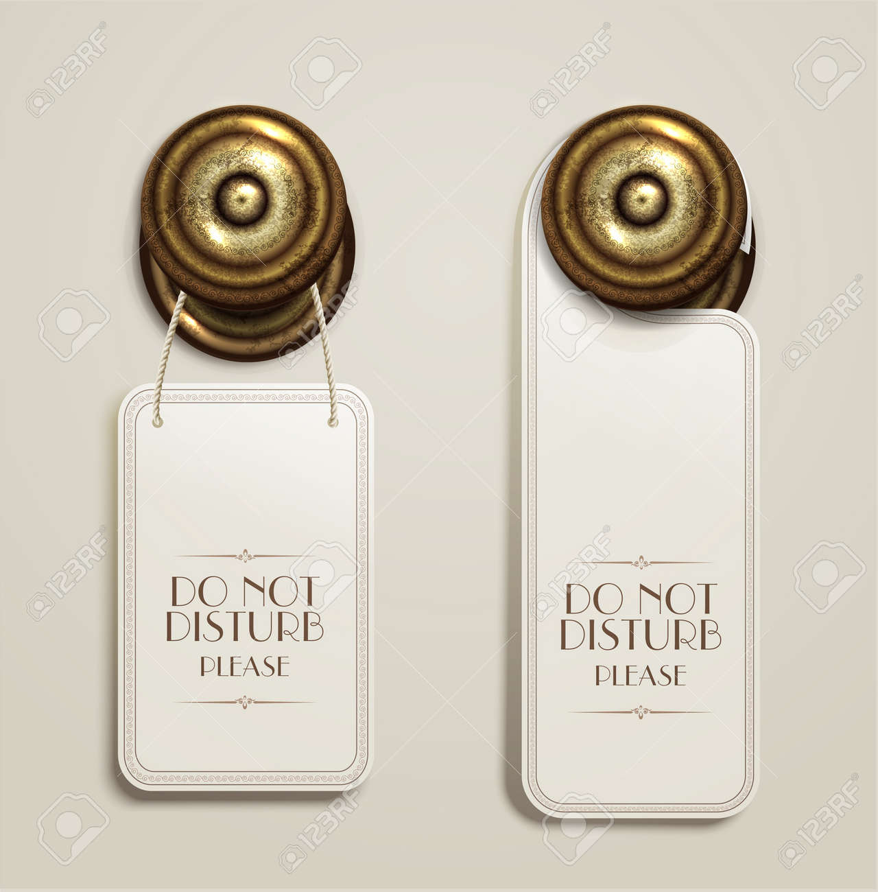 Hotel Handles With Hanging Signs Royalty Free Cliparts, Vectors ...